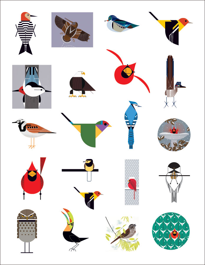 Charley Harper\'s Birds Sticker Book
