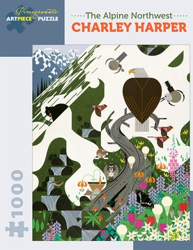 Charley Harper: The Alpine Northwest 1,000-piece Jigsaw Puzzle