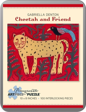 Cheetah and Friend: Gabriella Denton 100-piece Jigsaw Puzzle