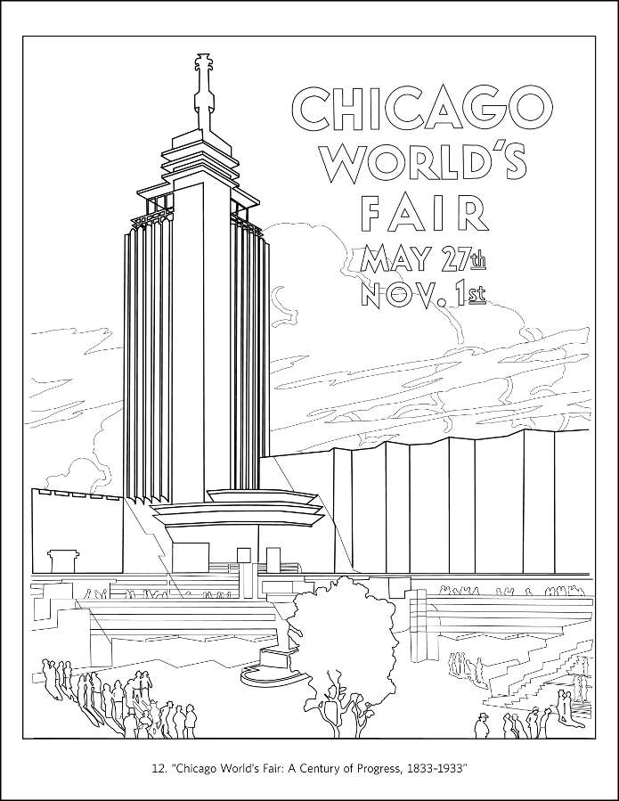 chicago coloring book - Pictures Of Books To Color