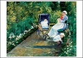 Children in a Garden (The Nurse) Notecard