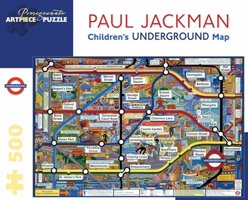 Paul Jackman: Children's Underground Map 500-piece Jigsaw Puzzle