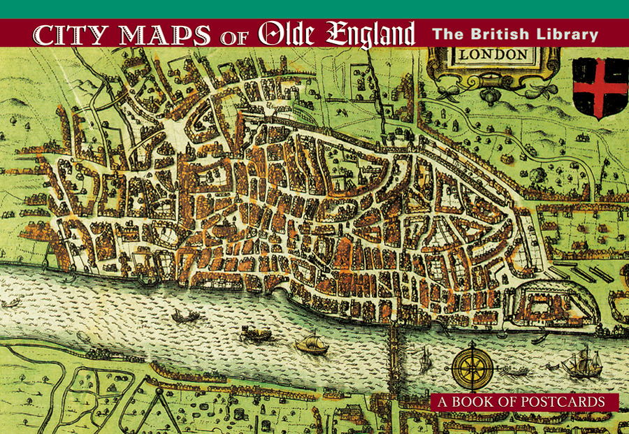 City Maps Of Olde England Book Postcards