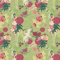Cranes and Chrysanthemums Designer Gift Wrap