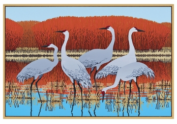 Cranes at Bosque del Apache Notecard