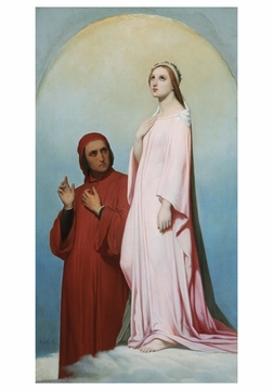 Dante and Beatrice Notecard