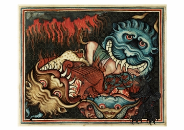 Demonic Beasts Postcard