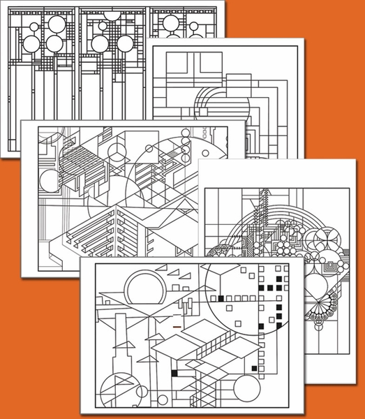 Free coloring pages for Frank lloyd wright coloring pages