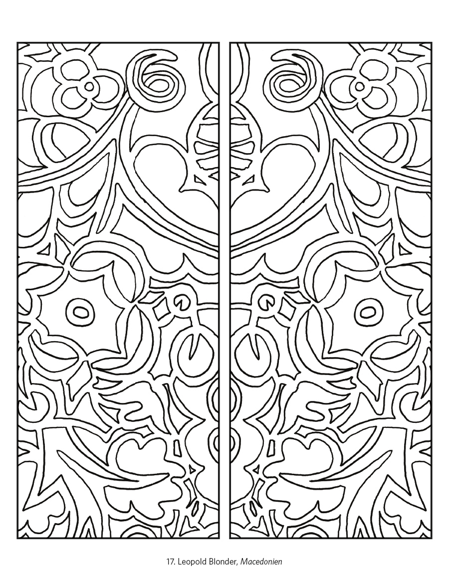 Designs from the Vienna Workshop Coloring Book