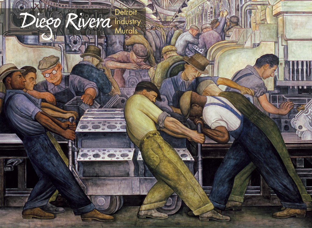 Diego rivera detroit industry murals boxed notecards for Diego rivera mural detroit