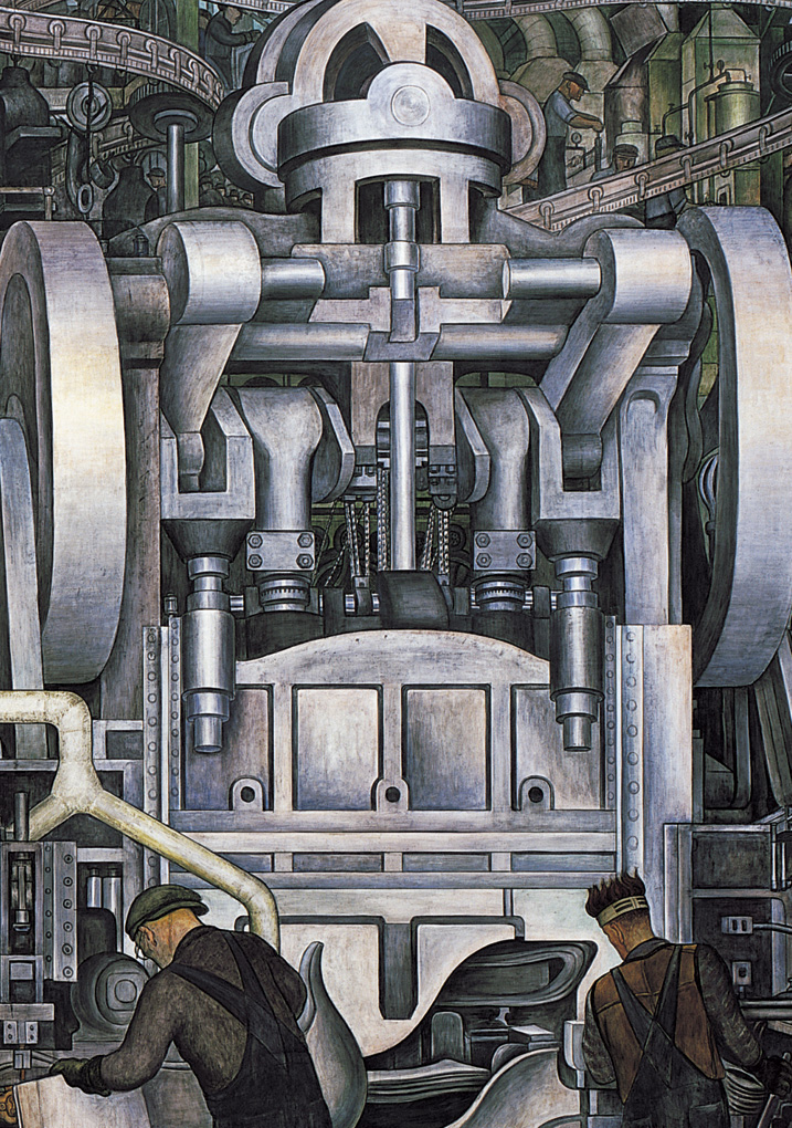 Diego rivera detroit industry murals boxed notecards for Detroit mural factory