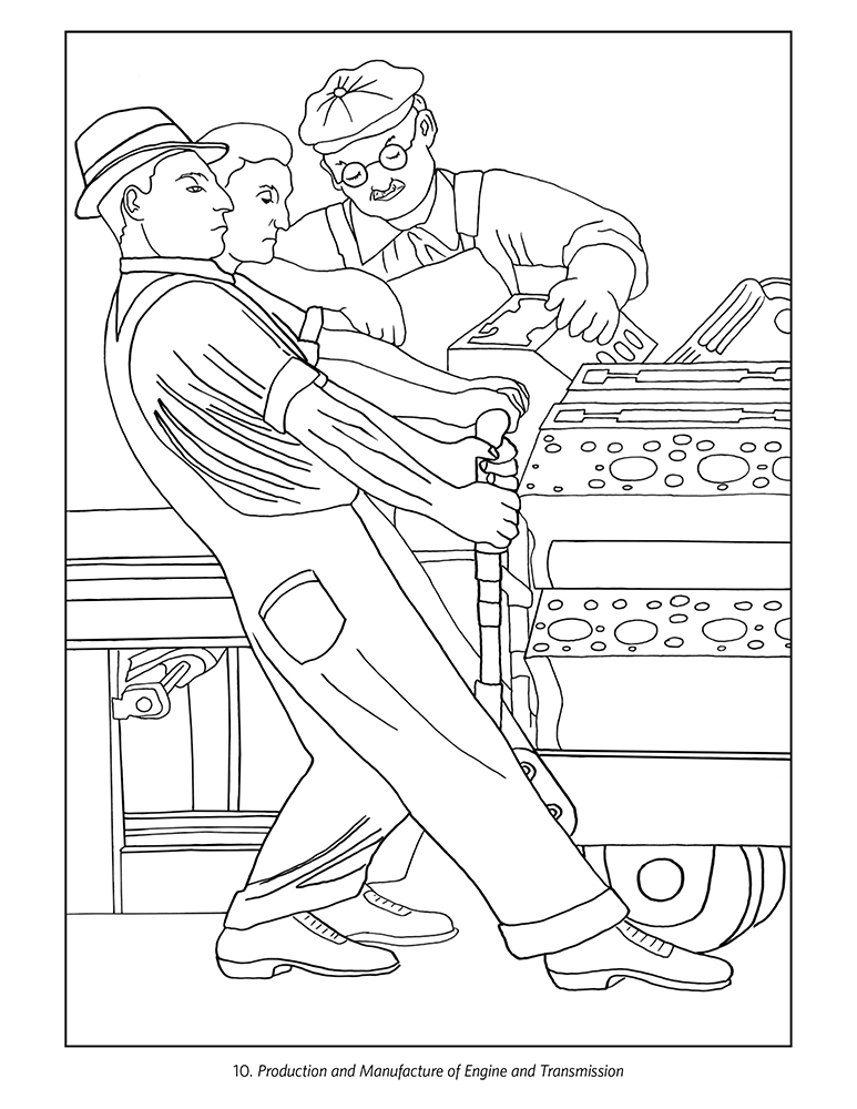diego rivera the detroit industry murals coloring book