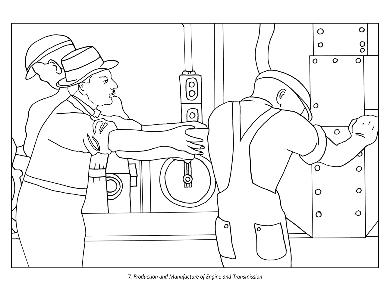 factory worker coloring pages - photo#4