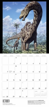 Dinosaurs: The Art of Mark Hallett 2018 Wall Calendar