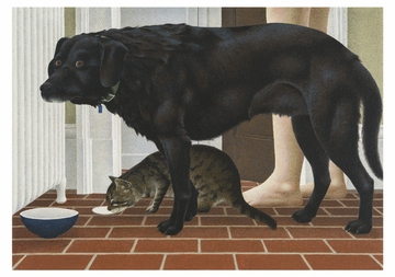 Alex Colville: Dog and Cat Notecard