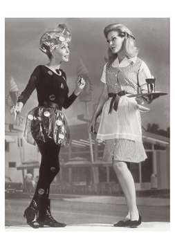 Drive-In Outfits Postcard