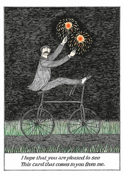 Edward Gorey: Pleased to See Birthday Card