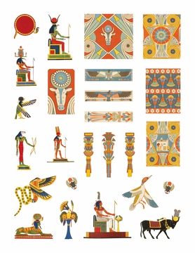Egyptian Designs & Deities Sticker Book