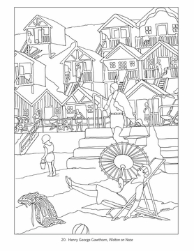 england by rail coloring book