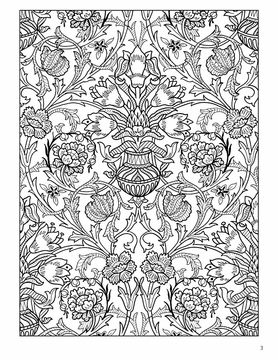 English Decorative Designs Coloring Book