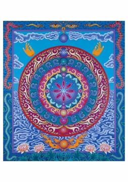 Eyes of the Goddess Mandala Notecard