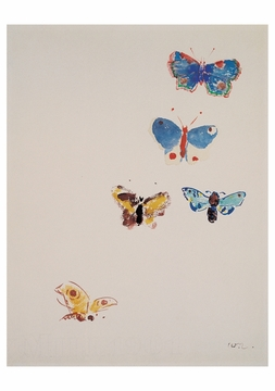 Five Butterflies Notecard