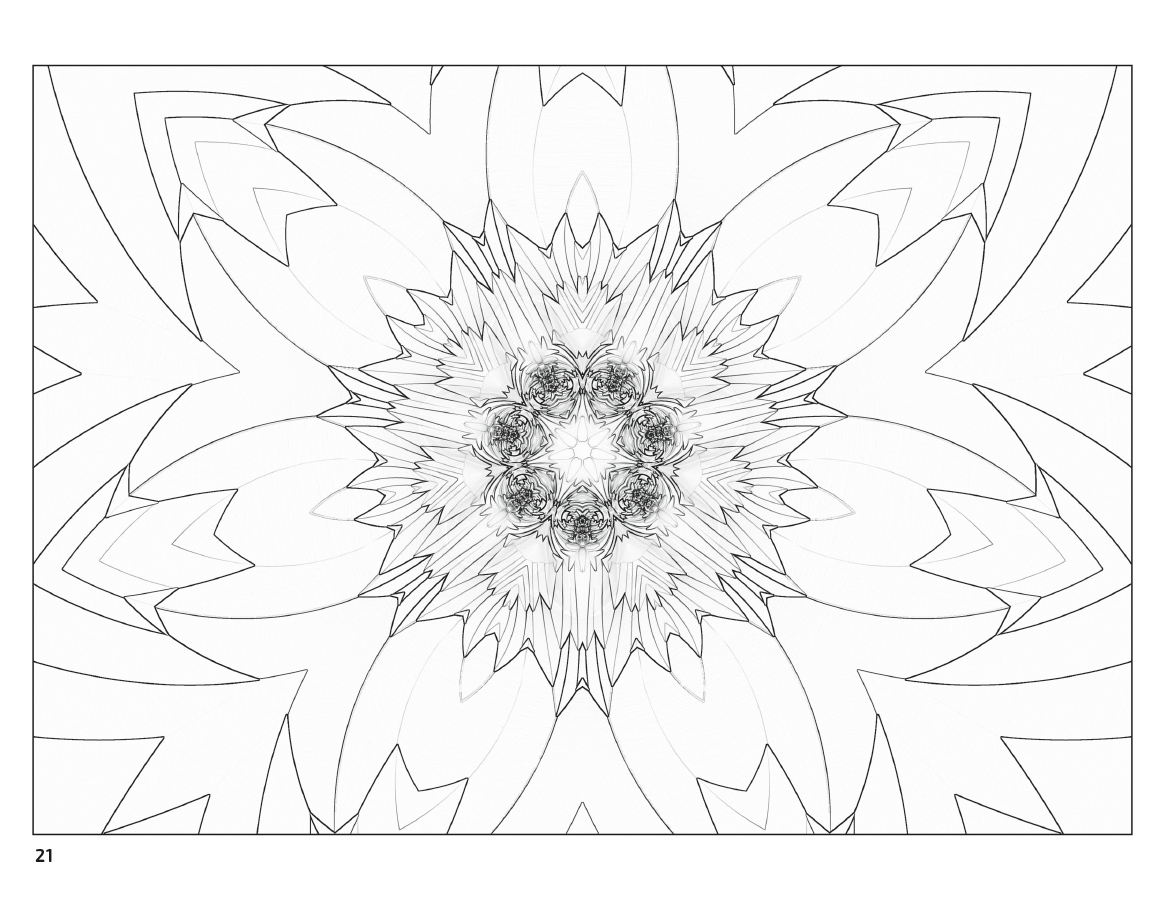 fractal art coloring book