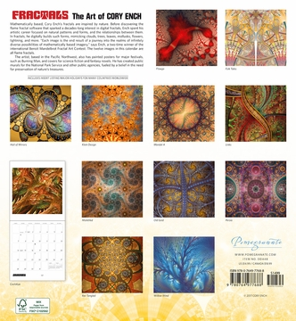 Fractals: The Art of Cory Ench 2018 Wall Calendar