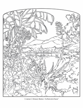 France: Travel Posters Coloring Book