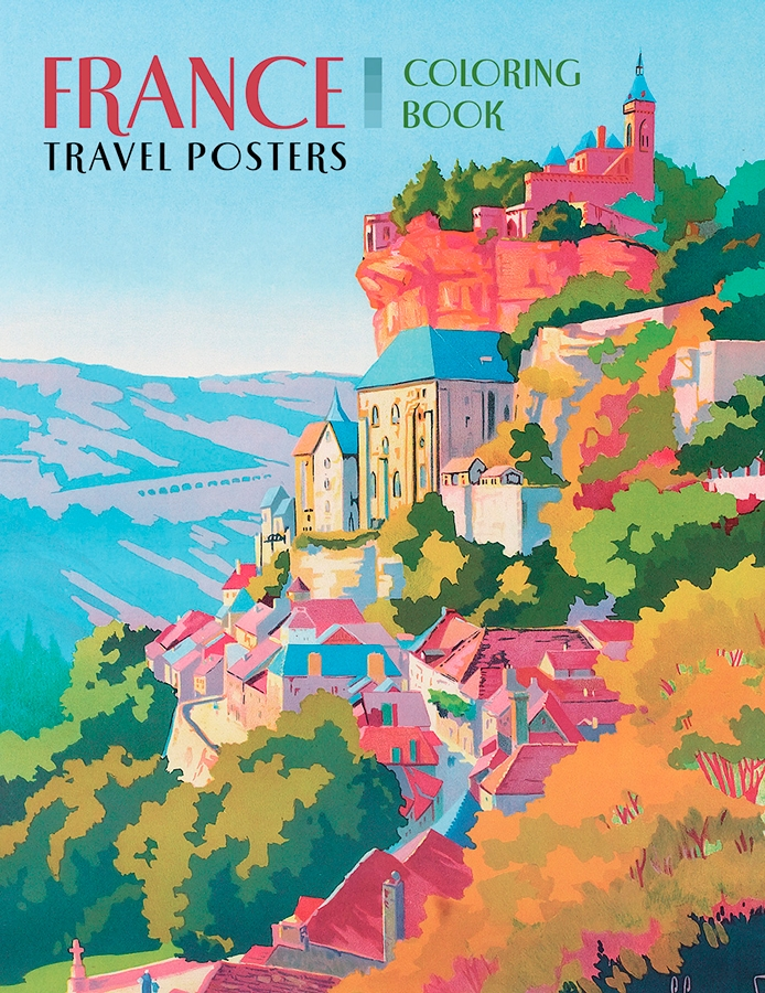 France travel posters coloring book Coloring book poster