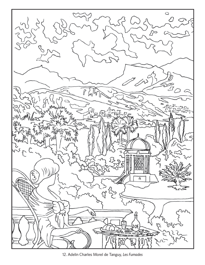 france coloring page - france travel posters coloring book