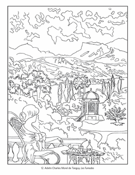 france travel posters coloring book - Travel Coloring Book