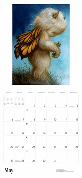 Gentle Creatures: The Art of Dan May 2018 Wall Calendar