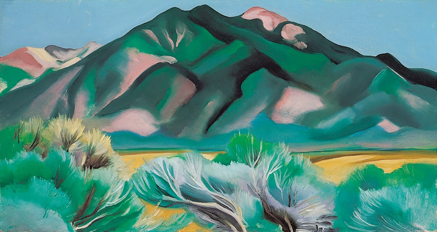 O Keeffe Blue And Green Painting