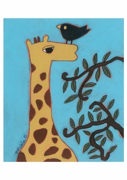 Giraffe Birthday Card