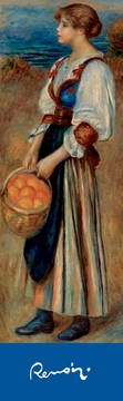 Girl with Basket of Oranges Bookmark