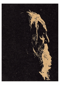 Head of an Old Man (Walt Whitman) Postcard