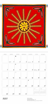 Huichol Yarn Paintings 2019 Wall Calendar