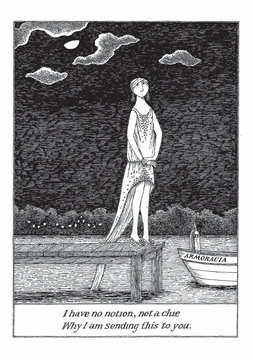 Edward Gorey: I Have No Notion, Not a Clue Notecard