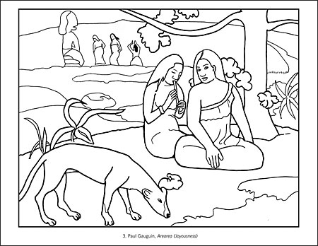 impressionist coloring pages - impressionist masterpieces from the musee d 39 orsay coloring