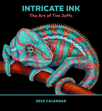 Intricate Ink The Art Of Tim Jeffs 2019 Wall Calendar