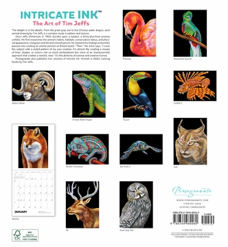Intricate Ink: The Art of Tim Jeffs 2019 Wall Calendar