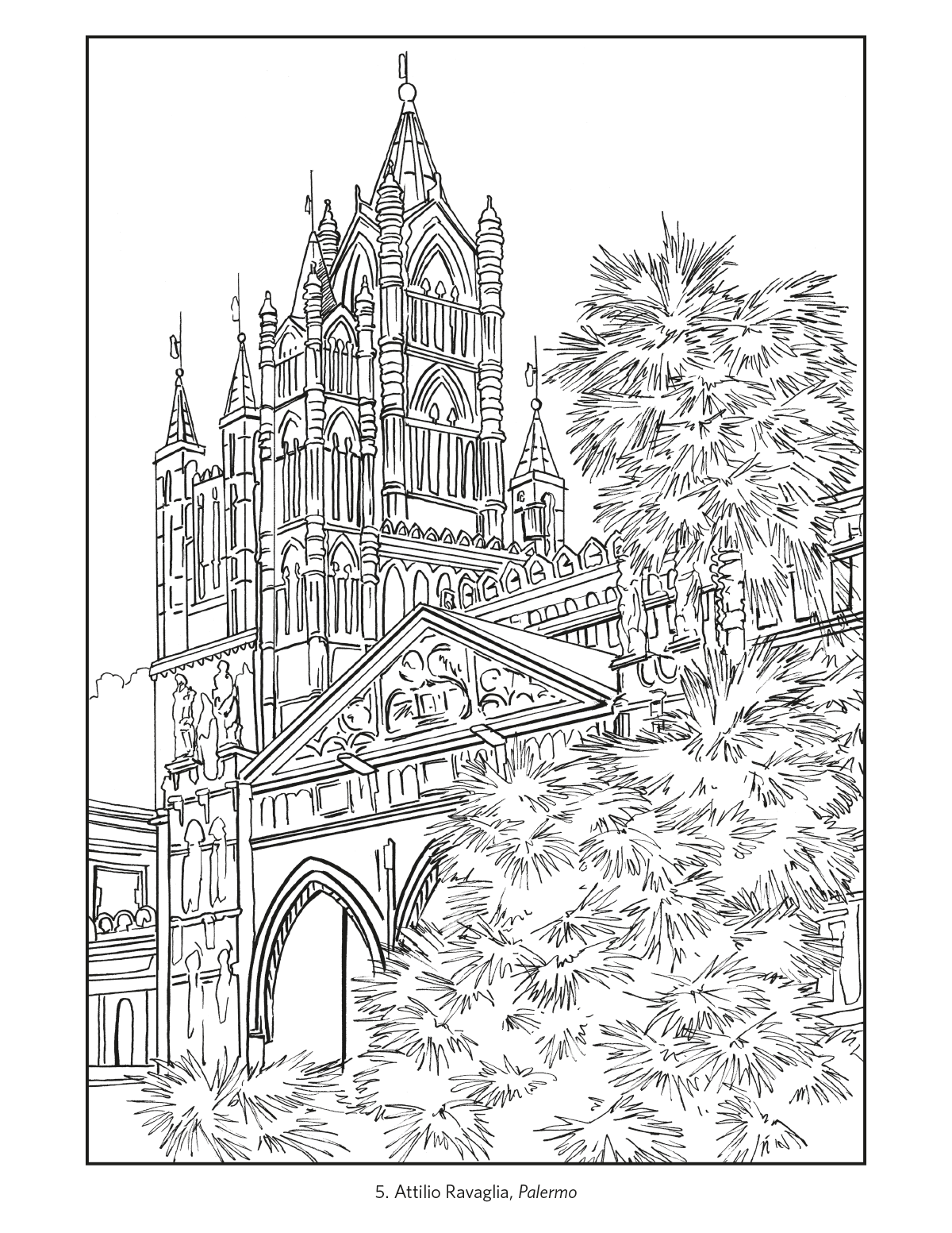 europe landmarks coloring pages | Italy: Travel Posters Coloring Book