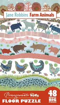Jane Robbins: Farm Animals Floor Puzzle