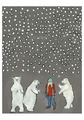 Kathy DeZarn Beynette: Goldilocks Three Polar Bears Notecard