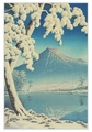 Kawase Hasui: Fuji in Clear Weather after Snow from Tago Bay Holiday Cards