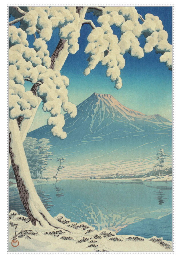 Kawase Hasui: Fuji in Clear Weather after Snow from Tago