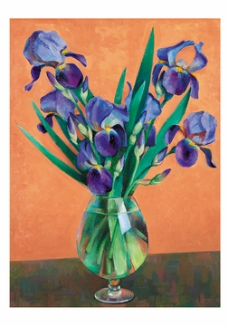 Kenneth Adams: Purple Iris Small Boxed Cards