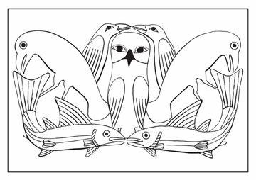 Kenojuak Ashevak: Cape Dorset Coloring Cards