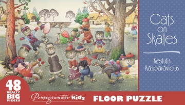Kestutis Kasparavicius: Cats on Skates Floor Puzzle